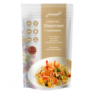 Лапша Ширатаки спагетти с морковью 340г Shirataki