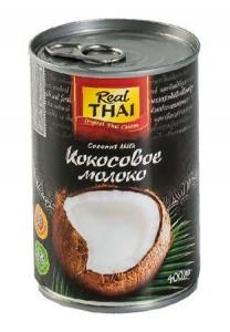 Молоко кокосовое 17-19% ж.б. 400мл REAL THAI