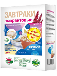 Завтраки амарантовые с белым шоколадом 250г Di&Di