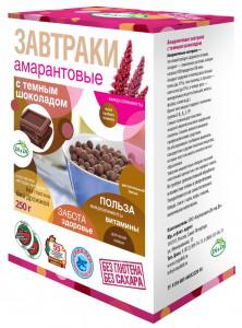 Завтраки амарантовые с темным шоколадом 250г Di&Di