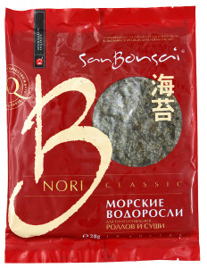 Нори для роллов и суши 28г SAN BONSAI