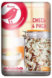 Смесь 4 вида риса органик 500г Auchan