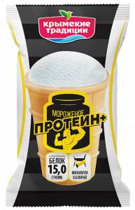 Мороженое Протеин в вафельном стаканчике 80г Крымские Традиции