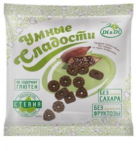 Печенье шоколадное без сахара 160г Умные Сладости