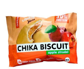 """Печенье протеиновое неглазурованное с начинкой """"Яблочный штрудель"""" 50г CHIKALAB"""