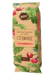 Шоколад Молочный Вишня на стевии 100г Стевилад