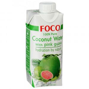 Кокосовая вода с розовой гуавой 330мл FOCO