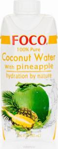 Кокосовая вода с соком ананаса 330мл FOCO