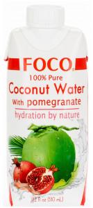 Кокосовая вода с соком граната 330мл FOCO