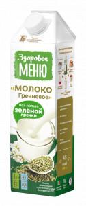 Молоко гречневое 1л Здоровое меню