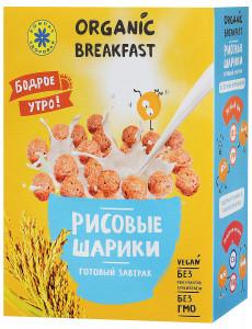 Завтраки сухие Рисовые шарики 100г Компас здоровья