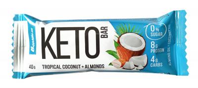 Батончик Кето тропический кокос и миндаль 40г Bombbar
