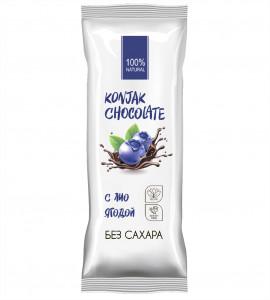 Шоколад без сахара Черничный Konjak Chocolate Ширатаки