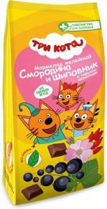 Мармелад желейный Три кота глазир. со смородиной и шиповником 105г Лакомства для здоровья