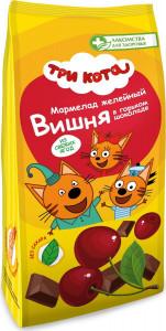 Мармелад желейный Три кота глазирован. в горьком шоколаде с вишней 105г Лакомства для здоровья