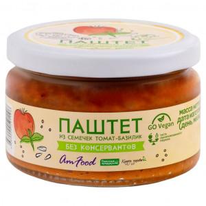 Паштет из семечек томат-базилик ст/б 200г AmFood