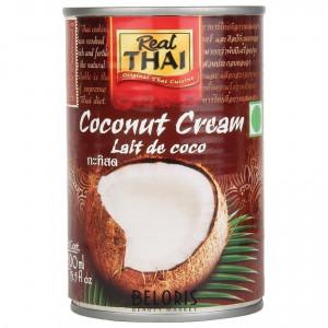 Сливки кокосовые ж/б 400мл REAL THAI