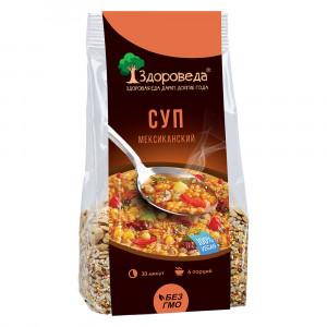 Суп мексиканский с рисом и кукурузой 250г Здороведа