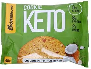 Печенье Кето кокосовый птифур и миндаль 40г Bombbar