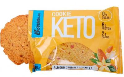 Печенье Кето миндальный крамбл и ваниль 40г Bombbar