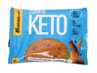 Печенье Кето шоколадный крем и миндаль 40г Bombbar