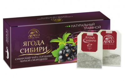 Чай травяной Смородина 20пак Ягода Сибири