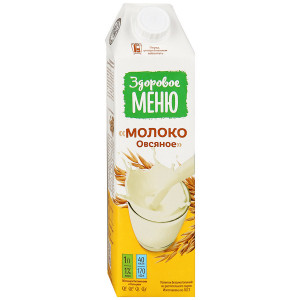 Молоко овсяное 1л Здоровое меню