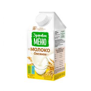 Молоко овсяное 500мл Здоровое меню