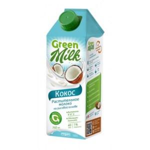 Молоко рисовое Кокос 750мл Green Milk