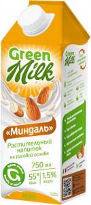 Молоко рисовое Миндаль 750мл Green Milk