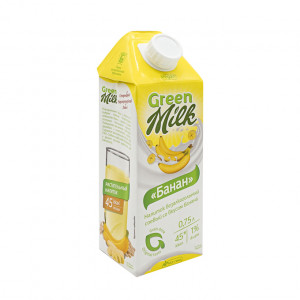 Молоко соевое Банан 750мл Green Milk