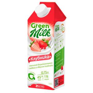 Молоко соевое Клубника 750мл Green Milk
