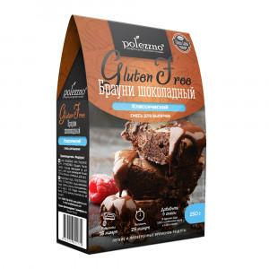 Смесь для выпечки Брауни шоколадный 250г Полеззно
