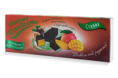 Конфеты желейные в глазури со вкусом манго-маракуйа 105г Умные Сладости