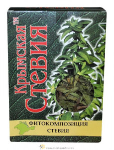 Воздушно-сухой лист стевии 50г Крымская Стевия