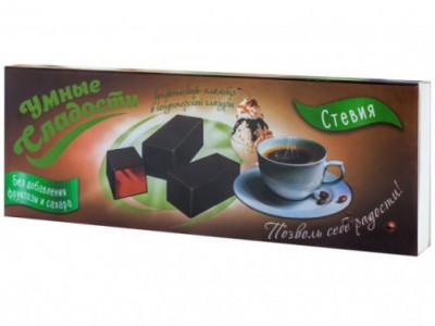 Конфеты желейные в глазури со вкусом кофе-пломбира 105г Умные Сладости