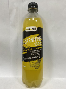 Напиток слабогазированный L-CARNITINE 1500 Ананас 500мл SCHWARZ