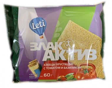 Хлебцы хрустящие ЗлакАктив с томатом и базиликом 60г Leti