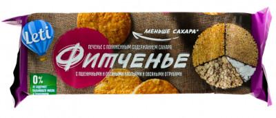 Печенье Фитченье с пониженным содержанием сахара 150г Leti