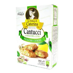 Печенье Кантуччи с фисташками и цедрой лимона 0.180 кг Le Delizie di Caterine