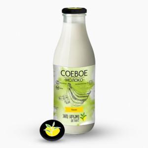 Молоко соевое Банан 750мл Эко-КрымДетка!