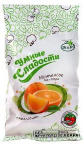 Леденцы без сахара Апельсин 55г Умные сладости