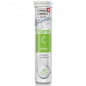 Таблетки шипучие Витамин С 550мг 20шт Swess energy