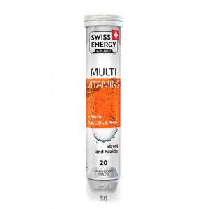 Таблетки шипучие Мультивитамин+Биотин 20шт Swess energy