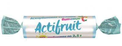 Таблетки жевательные с Вит С с сахаром 2,5г 10шт Актифрут