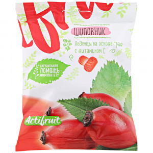Карамель леденцовая витамин С со вкусом шиповника 60г Актифрут
